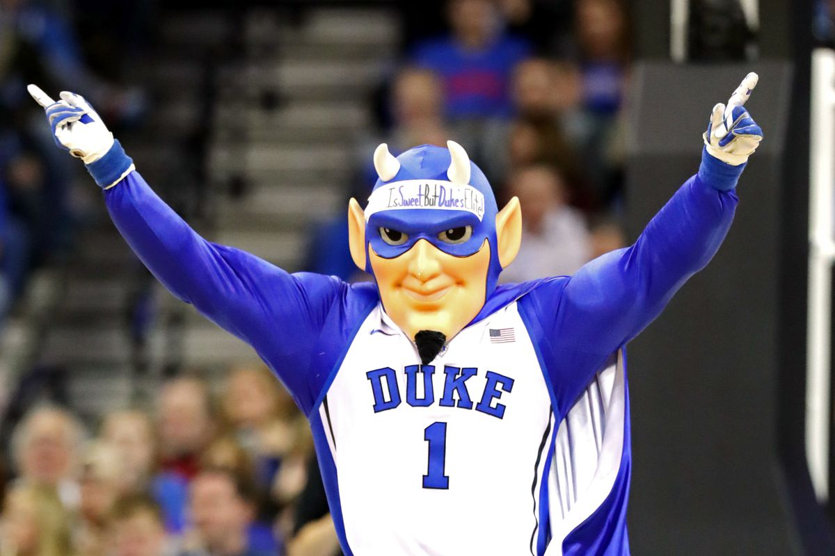 Duke Blue Devil Cheering Crowd