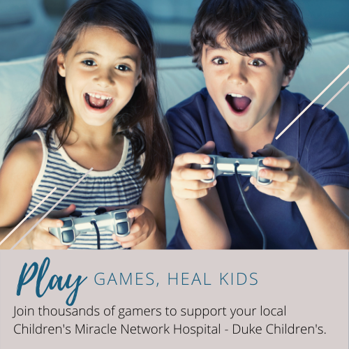 Play games, heal kids